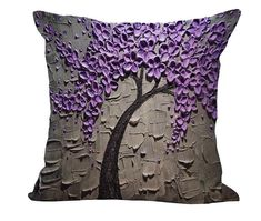 Flowering Tree Throw Pillow Covers - 9 designs