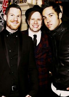 Fall Out Boy's Andy Hurley, Patrick Stump, and Pete Wentz.