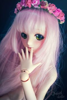 Melocotón (custom Dollfie Dream Sister M.O.M.O.)   https://orchiddolls.wordpress.com/2014/08/05/fallen-from-a-peach-tree/