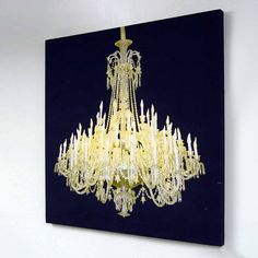 This lights up. It needs to be on my office wall: Grand Chandelier Glo-Canvas Black (DuffyLondon.com)