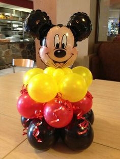 Mickey Mouse Balloons, Fiesta Mickey Mouse, Mickey Mouse Baby Shower, Mickey Mouse Parties, Mickey Party, Mickey Mouse Clubhouse Birthday Party, Mickey Mouse Birthday, 1st Birthday Parties, Birthday Balloons
