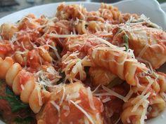 Garlic Chicken with Creamy Tomato Pasta