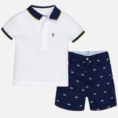 Pretty bermuda summer shorts made of poplin fabric with pocket featuring a metal rivet. Elegant cut with double stitching. Boys Summer Outfits, Little Boy Outfits, Toddler Boy Outfits, Kids Outfits, Newborn Outfits, Fall Outfits, Baby Boys, Cute Baby Boy, Cute Baby Clothes
