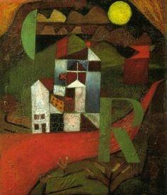パウル・クレー R荘(1919年)(バーゼル美術館)