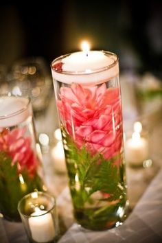 This is exactly the centerpiece I'm looking for, except with a different colour. Simple but still pretty :) #diy #candle