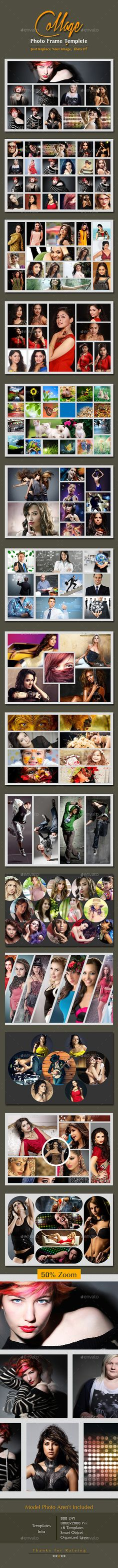 Photography Instagram Templates - 5 Designs Banners, Font logo and