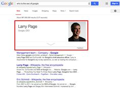 Larry Page SERPs