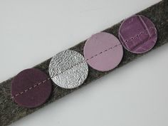 Armbänder - Px4 – Armband aus Filz und Leder - ein Designerstück von rooo bei DaWanda
