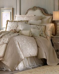 """Isabella Collection-""""Calais"""" Bed Linens  - traditional - bedding - Neiman Marcus"""