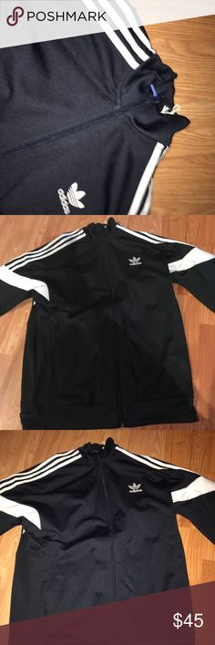 *NEW* Black Adidas Challenger Jacket Literally only worn once because It's not really my style . Great Quality, everything is good as new. I've had this Jacket for about a year now. adidas Jackets & Coats