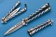 Custom Handmade Balisong V82 Twist Dagger By Darrel Ralph