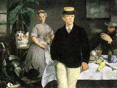 Breakfast in the Studio, 1868 //  Édouard Manet,  Impressionism