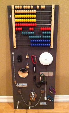Busy board idea for my boys