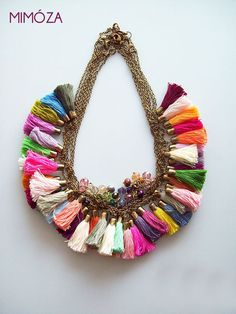 Tassel Necklace Handcrafted accessories from Botanika: https://www.facebook.com/hellobotanika