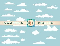 Cloud ClipArt Design Elements  Royalty-Free Digital Download Clouds Clip Art Graphic Design Supply by graficaitalia