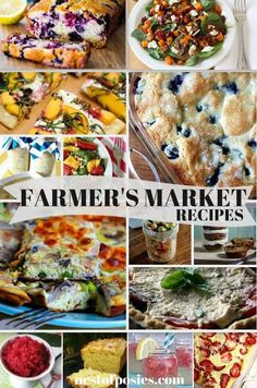 An amazing collection of Farmer's Market Recipes.  Using fresh seasonal produce to whip up the BEST recipes for your family!