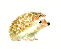 Drawing of a hedgehog