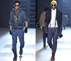 Michael Bastian exhibited his Fall Winter Mens Runway Collection during New York Fashion Week Michael Bastian, Smart Casual Outfit, Spring Fashion, Autumn Fashion, Men's Fashion, Fashion Images, Fashion Trends, Denim Jeans, Trendy Mens Fashion