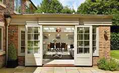 Wintergarten Westbury orangery with sliding traditional doors Selecting The Right Patio Furniture Cu Garden Room Extensions, House Extensions, Kitchen Extensions, House Extension Design, House Design, Roof Extension, Extension Ideas, Design Design, Modern Design