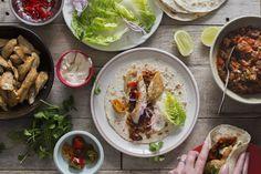 Chicken fajitas with epic Mexican salsa