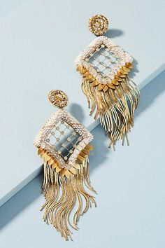 Deepa Gurnani Amorica Drop Earrings