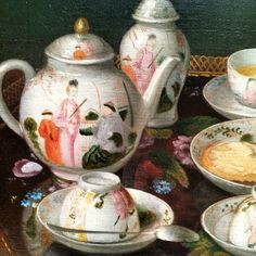 Jean-Étienne Liotard - Still Life: Tea Set, circa 1781 - 1783; Oil on canvas mounted on board; 37.8 × 51.6 cm (14 7/8 × 20 5/16 in.); 84. Getty Museum, Malibu.
