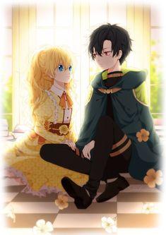 Anime Cupples, Anime Angel, Anime Comics, Kawaii Anime, Anime Love Couple, Cute Anime Couples, Anime Princess, Princess Art, Manhwa