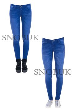 Skinny Womens Jeans Stretchy Jeggings Ladies New Fit Coloured Trousers Size 6-14