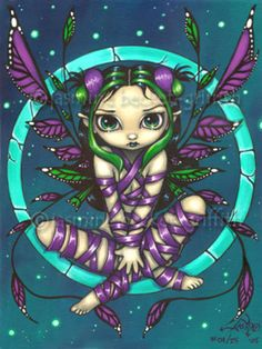 Purple Ribbon Fairy gothic fantasy art Jasmine Becket-Griffith CANVAS PRINT