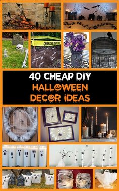 40+ Cheap & Easy DIY Halloween Decorations
