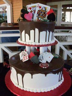 Casino themed wedding cake...now I like this theme