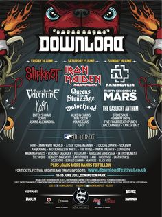 Yeah baby can't wait!!!!!!!!!!!!!!Download Festival 2013 Line Up   Official Download Festival Line Up