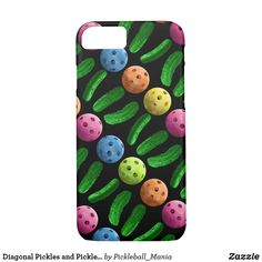 Diagonal Pickles and Pickleballs Case-Mate iPhone Case