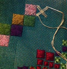 The Norwich stitch, a combination of weaving and sewing. Can't wait to try this out.