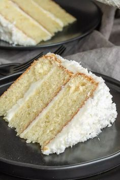 This is the BEST Coconut Cake recipe you'll ever make. Classic coconut cake recipe uses fresh coconut and a secret ingredient to make the cake extra moist! Coconut Cake From Scratch, Coconut Cake Easy, Best Coconut Cake Recipe, Coconut Desserts, Cake Recipes From Scratch, Coconut Recipes, Just Desserts, Coconut Cakes, Coconut Wedding Cake Recipe