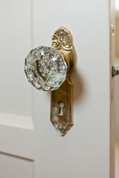 LOVE our glass doorknobs... got to invest in a few more. Most of the ...