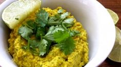 Coconut Curry Hummus Recipe  A healthy hummus recipe, great for all dosha types and packed with healing spices, coconut water, tahini, cilantro and fresh lime juice!  Perfect for Spring (or anytime)!