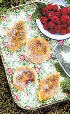 Sweet raspberry pastries