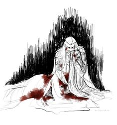 """Ella, Ella!"" Thranduil wailed and rocked his wife back and forth as she laid limply in his arms."
