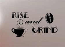 GRIND COFFEE quote wall art sticker vinyl KITCHEN Would look so cool on the wall at the TMC Coffee Shop!