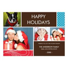 HOLIDAY COLORS | HOLIDAY PHOTO CARD PERSONALIZED INVITATIONS