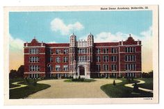Mouse over image to zoom                         Have one to sell? Sell it yourself       Illinois postcard Belleville Notre Dame Academy linen