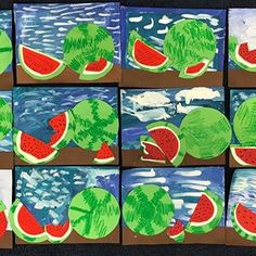 Beautiful 2nd grade watermelon multimedia still life, influenced by Frida Kahlo @sierramadres thanks for the inspiration