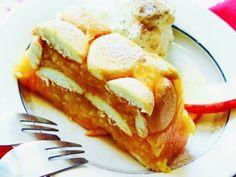 Jablkovo-pudingový dezert French Toast, Breakfast, Food, Morning Coffee, Essen, Meals, Yemek, Eten