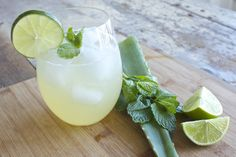 Aloe Vera Pineapple Juice Cooler  Ingredients:  2 cups pineapple juice 2 tbsp aloe vera gel*  3 mint leaves 1 lime, juiced 1/2 cup water  *You can purchase whole Aloe leaves in the produce section of the grocery store.
