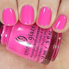 China Glaze I'll Pink to That from Nailluminati Destash Summer Nails Neon, Spring Nails, Turqoise Nails, Nail Time, Nail Art Videos, Colorful Nail Designs, Barbie, Creative Nails, Gel Nails