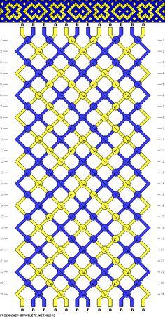 Muster # 91632, Streicher: 12 Zeilen: 24 Farben: 2