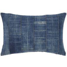 John Robshaw Textiles - Vintage Denim Decorative Pillow - Souk Bolsters - souk