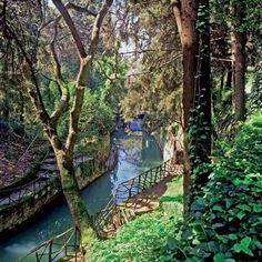 World's Oldest Park, Rodini, Rhodes Island.