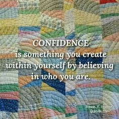 Confidence isn't automatic. It isn't something we are born with, but it comes when we are ready to face scary or uncomfortable opportunities! It's important to have confidence in the knowledge that we can even learn from our mistakes and that they don't define us. Happy Thursday, everyone! Vintage string quilt from my collection. ... #quilt #quilting #patchwork #quiltville #bonniekhunter #antiquequilt #vintagequilt #deepthoughts #wisewords #wordsofwisdom #quiltvillequote